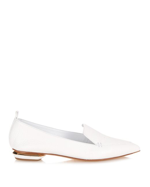 Nicholas Kirkwood | White Beya Grained-leather Loafers | Lyst