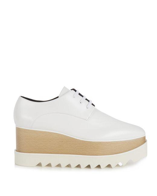 stella mccartney elyse lace up platform shoes in white lyst