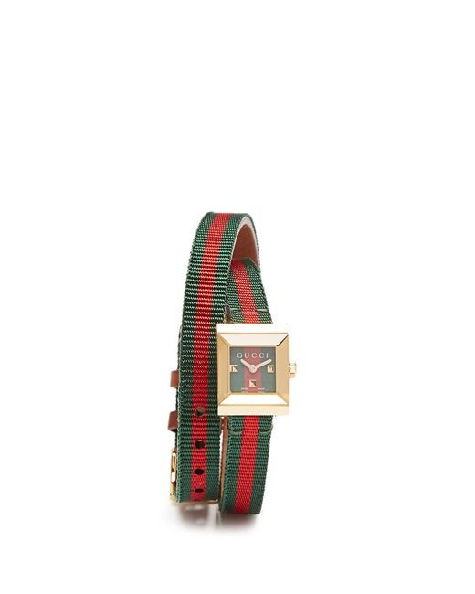 Gucci G frame Double strap Watch Save