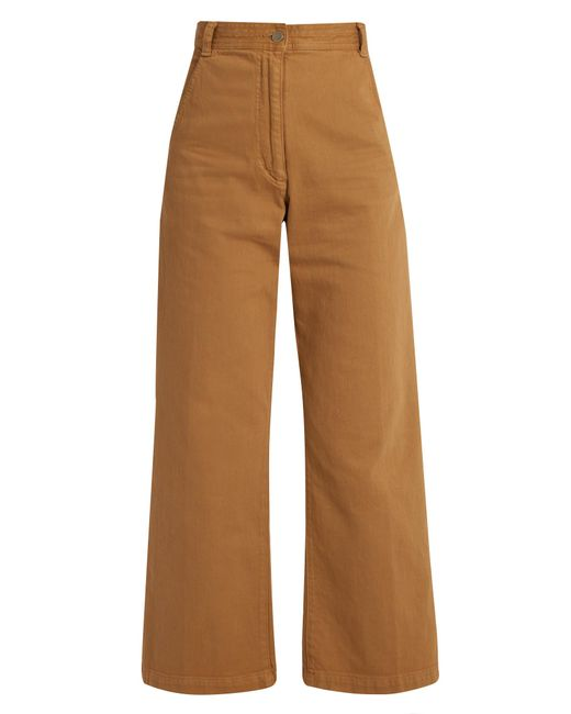Rachel Comey | Brown Bishop High-rise Wide-leg Cotton-blend Trousers | Lyst