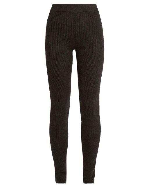 Ryan Roche | Black Ribbed-knit Cashmere-blend Leggings | Lyst