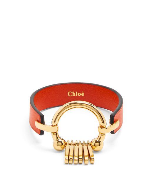 Chloé | Red Marin Fringe Leather Bracelet | Lyst