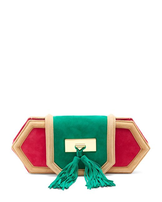 Balmain | Multicolor Killari Tassel-embellished Suede Clutch | Lyst