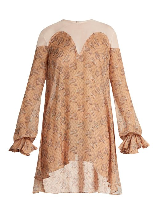 Katie Eary | Blue Snake-print Silk-chiffon Dress | Lyst