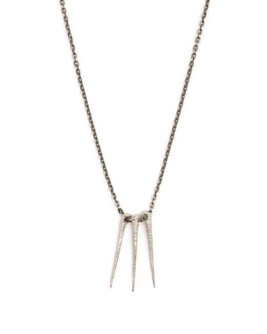 Pearls Before Swine Oxidised sterling-silver thorn pendant CDr0S
