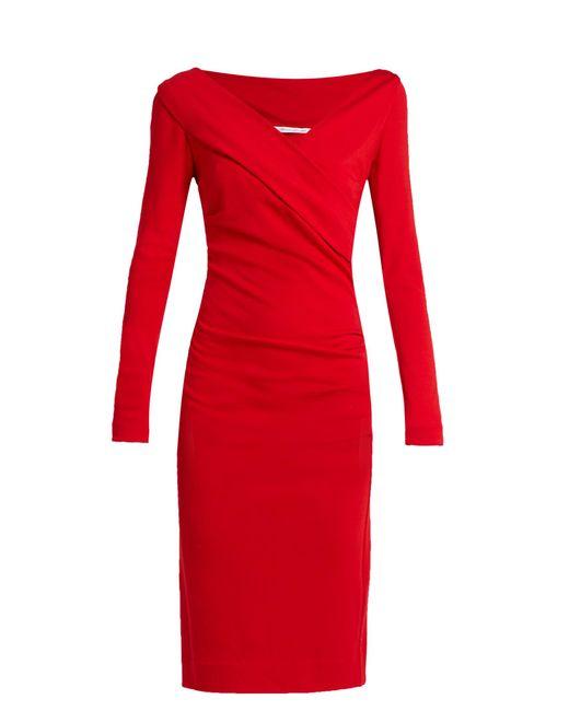 Diane Von Furstenberg Bentley Dress In Red