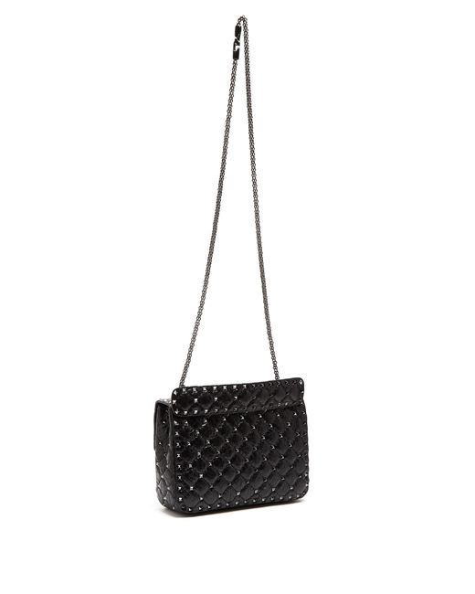 valentino rockstud spike small quilted leather shoulder
