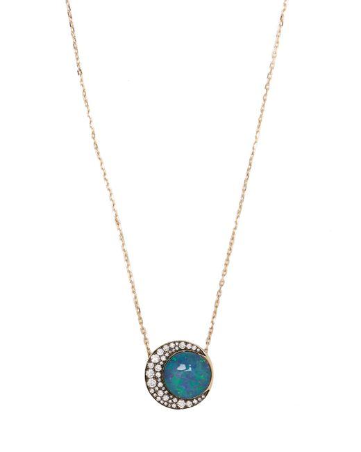 Noor Fares | Blue Diamond, Opal & Grey-gold Necklace | Lyst