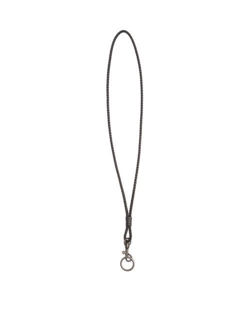 Bottega Veneta | Black Intrecciato Leather Long Knot Key Ring | Lyst