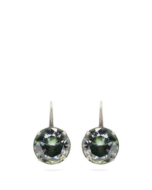 Bottega Veneta | Green Sterling-silver Drop Earrings | Lyst