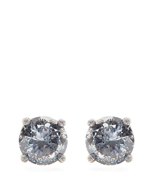 Bottega Veneta | Metallic Cubic Zirconia And Silver Earrings | Lyst