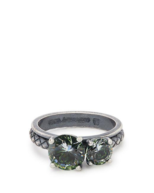 Bottega Veneta   Metallic Cubic-zirconia And Silver Ring   Lyst