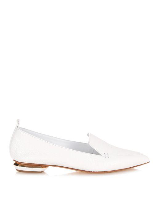 Nicholas Kirkwood | White Beya Grained-leather Loafers | Lyst