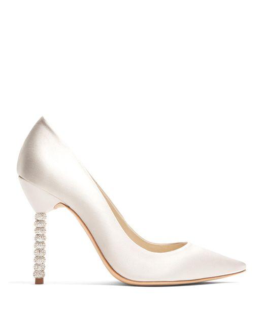 Sophia Webster | Multicolor Coco Crystal Embellished-heel Satin Pumps | Lyst