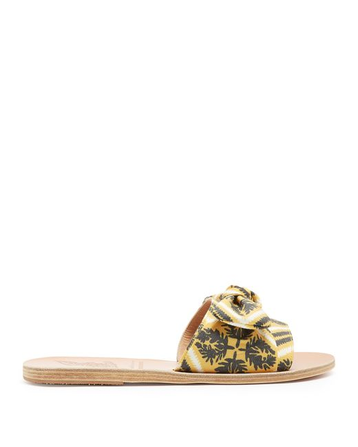 Ancient Greek Sandals | Multicolor Taygete Bow Twill Sandals | Lyst