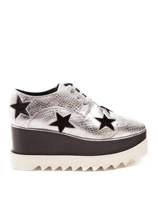 Stella McCartney | Multicolor Elyse Lace-up Platform Shoes | Lyst