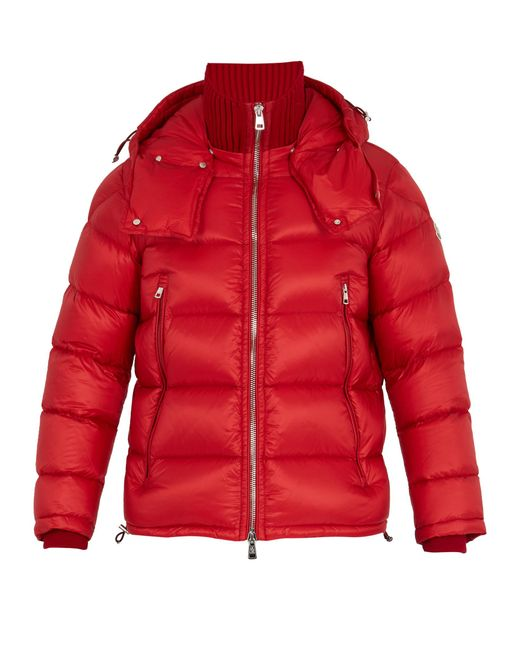 Moncler   Red Pascal Quilted Down Jacket for Men   Lyst
