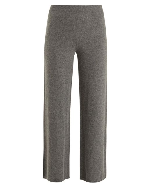 Joseph | Gray Wide-leg Cashmere Trousers | Lyst
