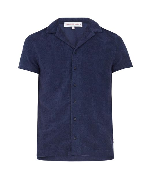 Orlebar Brown   Blue Travis French Terry-towelling Polo Shirt for Men   Lyst
