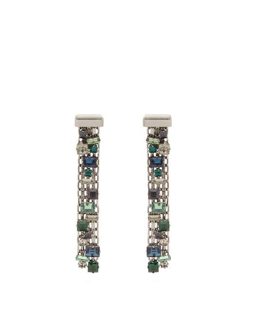 Lanvin | Multicolor Crystal-drop Clip On Earrings | Lyst