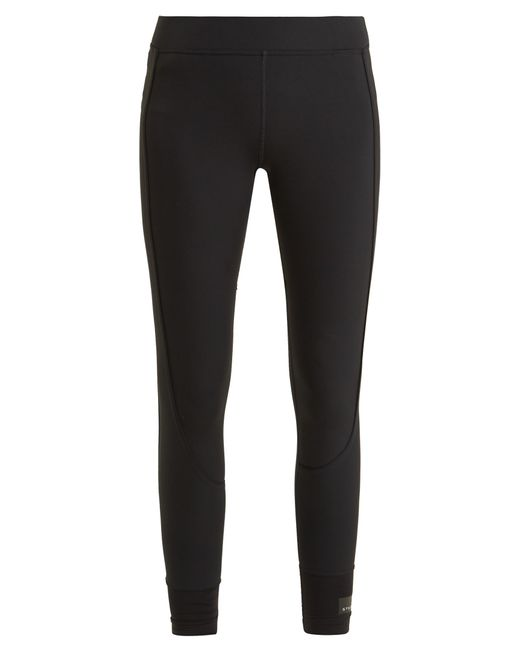 Adidas By Stella McCartney | Black Cropped Performance Leggings | Lyst