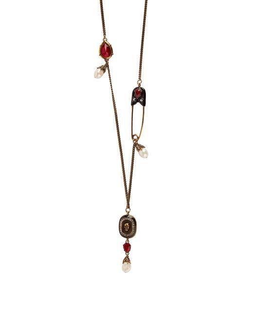 Alexander McQueen | Metallic Skull-pendant Charm Necklace | Lyst