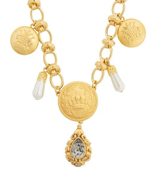 Dolce & Gabbana | Metallic Crest-embossed Necklace | Lyst