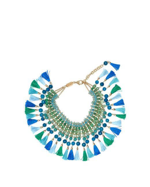 Rosantica By Michela Panero   Blue Geranio Multi-stone And Tassel Necklace   Lyst