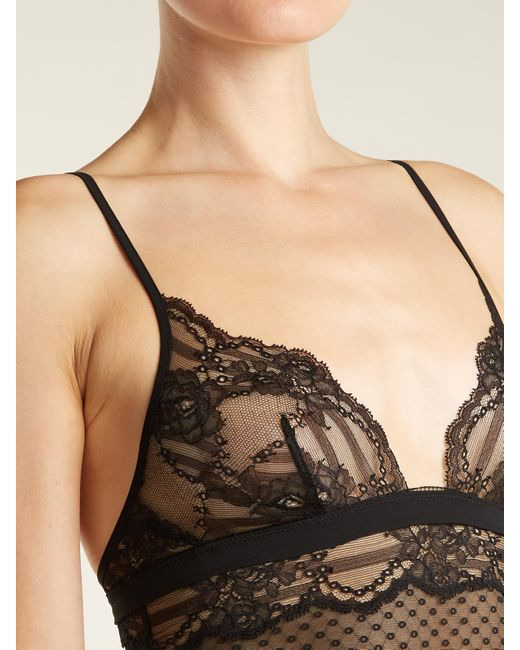La perla black camisole dress