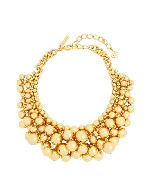 Oscar de la Renta | Metallic Sphere-embellished Necklace | Lyst