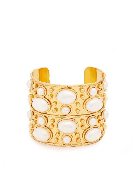 Sylvia Toledano   Metallic Byzantine Medium Gold-plated Cuff   Lyst