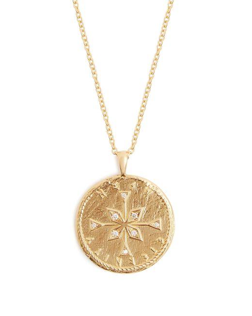 Azlee | Metallic Nesw Diamond & Yellow-gold Necklace | Lyst