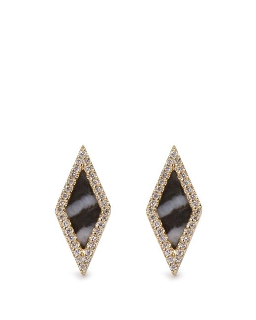 Monique Péan | Metallic Diamond, Agate & White-gold Earrings | Lyst