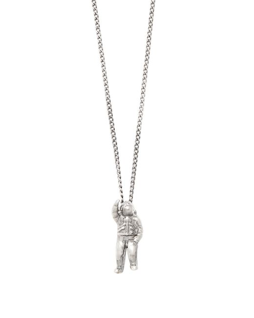 Title Of Work | Metallic Astronaut Sterling-silver Necklace for Men | Lyst