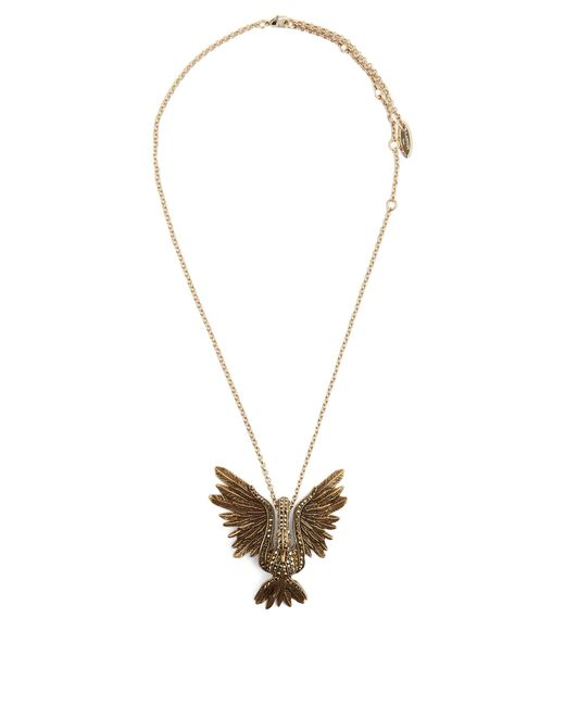 Lanvin | Metallic Crystal-embellished Swan Necklace | Lyst