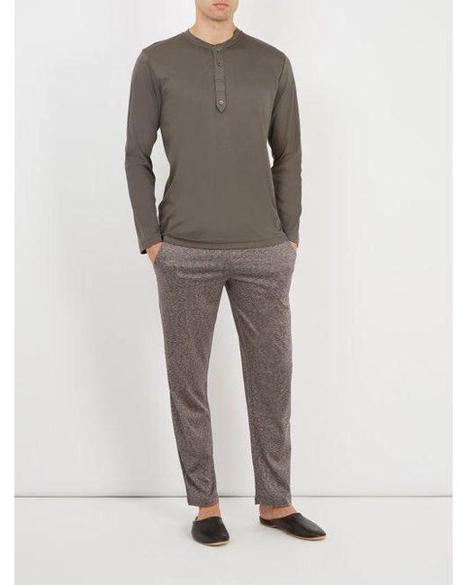 Jacquard cotton and silk-blend jersey trousers Zimmerli NzbHB3AbAo