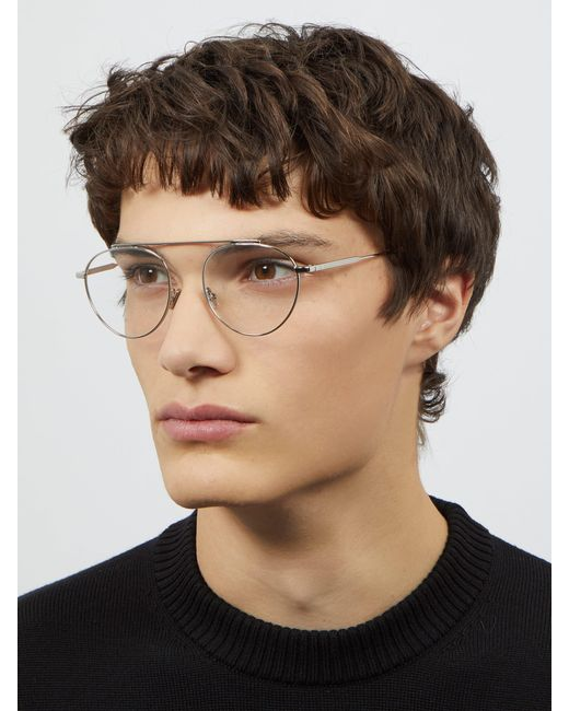 f50621abe7 ... Dior Homme - Metallic Round Metal Glasses for Men - Lyst ...