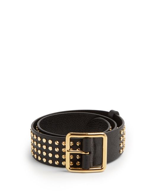black studded leather belt Alexander McQueen d8tb3uRsj