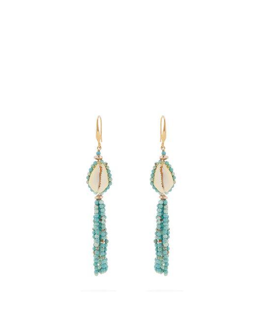 Isabel Marant - Multicolor Seashell Tassel-earrings - Lyst