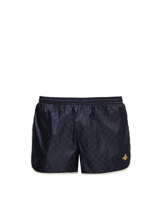 Gucci Blue Gg Quick Drying Swim Shorts for men