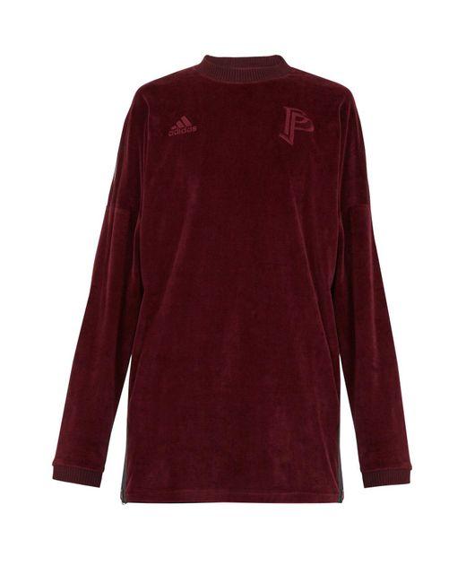 Adidas Originals - Purple Long-sleeve Velvet Sweater for Men - Lyst