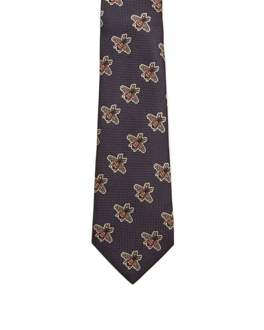 896b5a6dd3a Gucci Striped Silk Blend Tie in Blue for Men - Save 29% - Lyst
