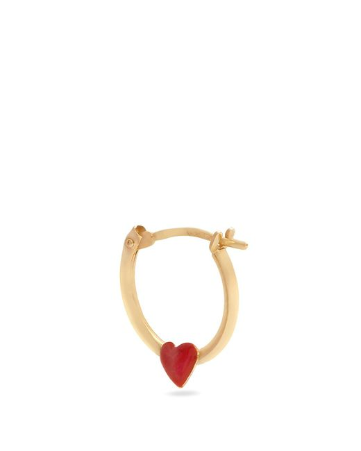 Alison Lou | Metallic Enamel & Yellow-gold Heart Earring | Lyst