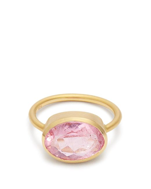 Irene Neuwirth - Multicolor Tourmaline & Rose-gold Ring - Lyst