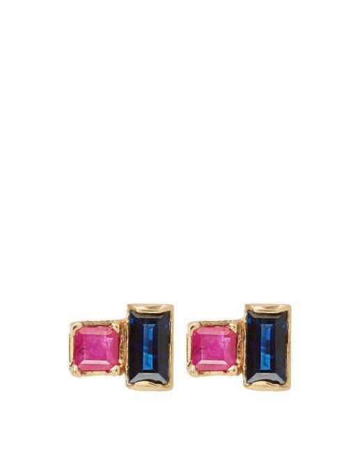 Loren Stewart | Blue Ruby & Sapphire Earrings | Lyst