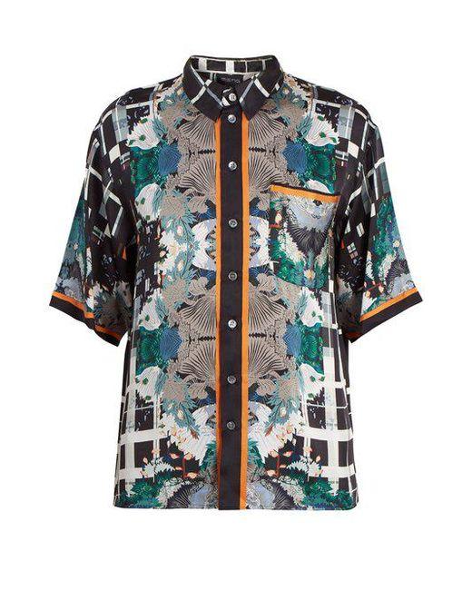 Meng - Multicolor Floral-print Short-sleeved Silk Pyjama Shirt for Men - Lyst