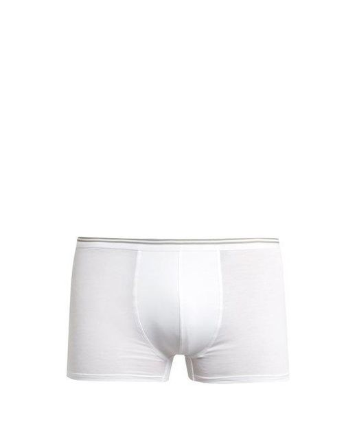 Zimmerli - White Pure Comfort Stretch-cotton Boxer Trunks for Men - Lyst