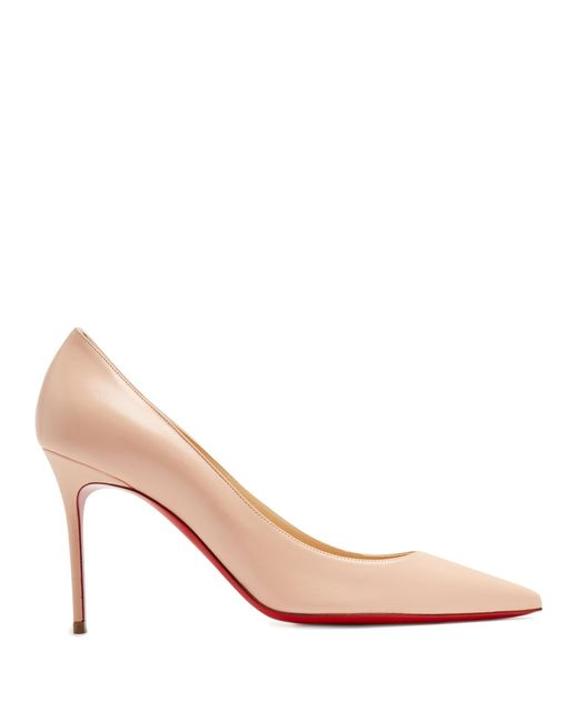Christian Louboutin   Pink Decollete 85mm Leather Pumps   Lyst