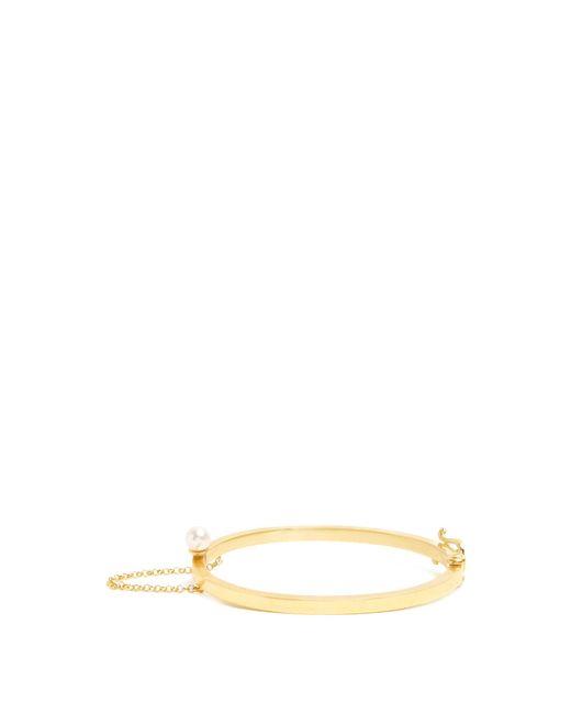 Sophia Kokosalaki | Metallic Orian Pearl-embellished Gold-plated Cuff | Lyst