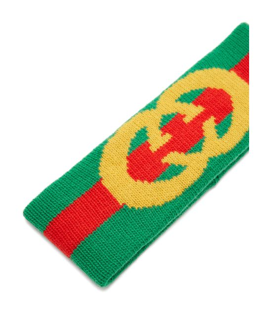Gucci Logo Wool Headband in Green - Save 26% - Lyst f4f6e0abde6